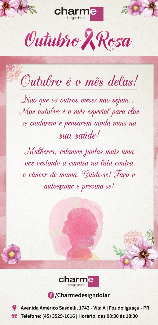 CHARME - EMAIL MKT OUTUBRO ROSA